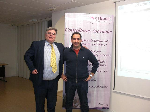 Carlos Sáez, Account Manager acens y Antonio Carmona, Jefe Sistemas Galdón Software