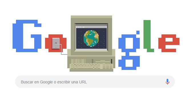 doodle google 30 aniversario de la World Wide Web