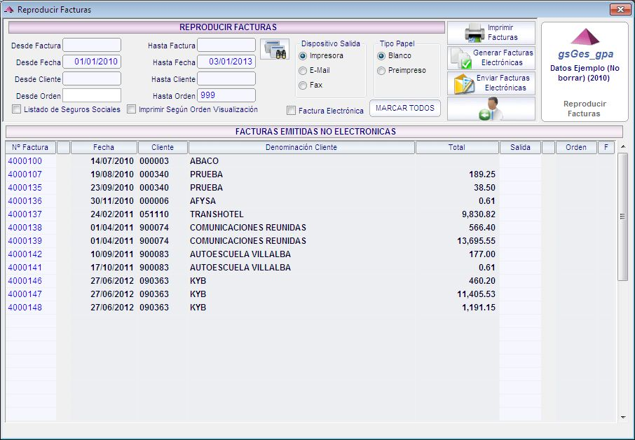 Ejemplo de facturación automática en una de nuestras aplicaciones