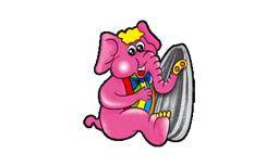 logo elefante rosa