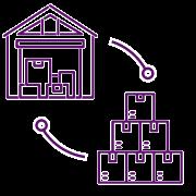 SGA Sistema de Gestión de Almacenes - Icono recepción y salida de almacén