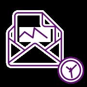 APP Gestión de Repartos - Icono envío automático email