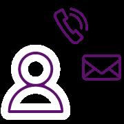 APP Gestión de Repartos - Icono teléfono email cliente